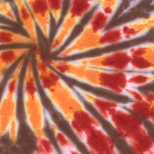 Orange and Strawberry Double Spiral Tie Dye T Shirt XL