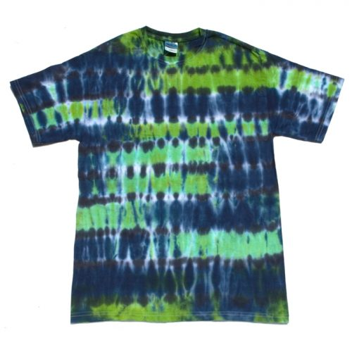 Midnight Forest Striped Medium Tie Dye T-Shirt