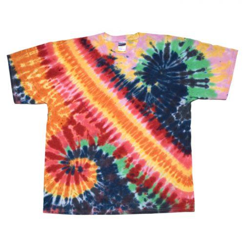 Double Spiral Pastel Tie Dye XL