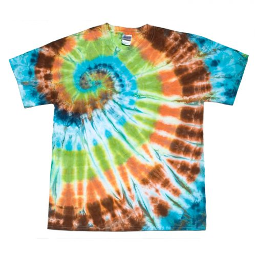 Bright Agate Spiral Tie Dye Large