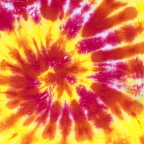 Sunny Day Spiral Tie Dye T Shirt Large