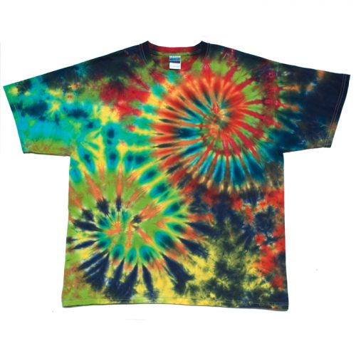 Electric Double Spiral Tie Dye T Shirt XL