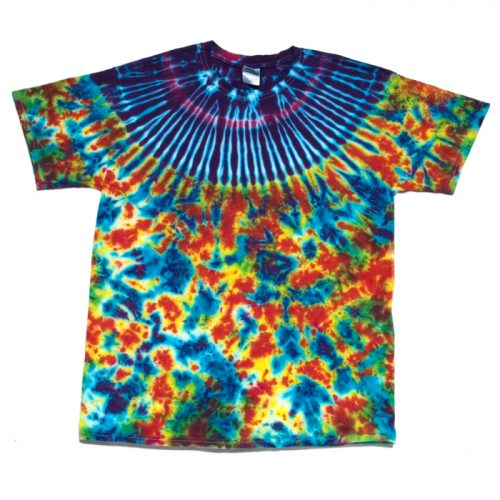 Indiglow Collar and Cosmic Pattern Tie Dye Large
