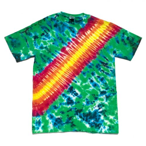 Jungle Flower Tire Track Tie Dye T Shirt Medium