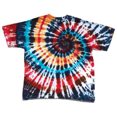 Moody Heart Spiral Tie Dye XL