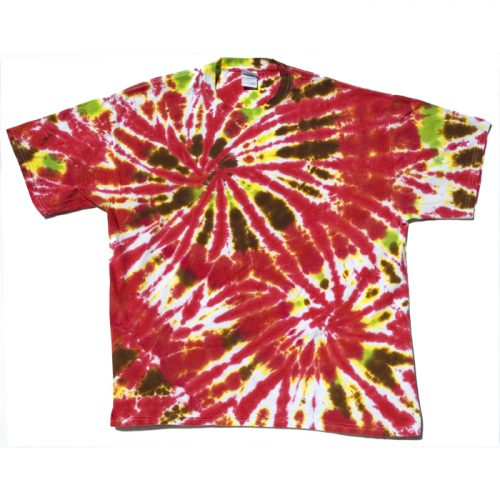 Tomato Red Double Spiral Tie Dye XL