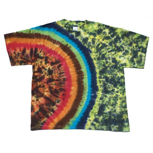Earth Wrinkle Cosmic Gaia XL Tie Dye T-Shirt