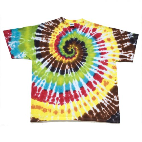 Chocolate Rainbow  Spiral XL Men's Tie Dye T-Shirt