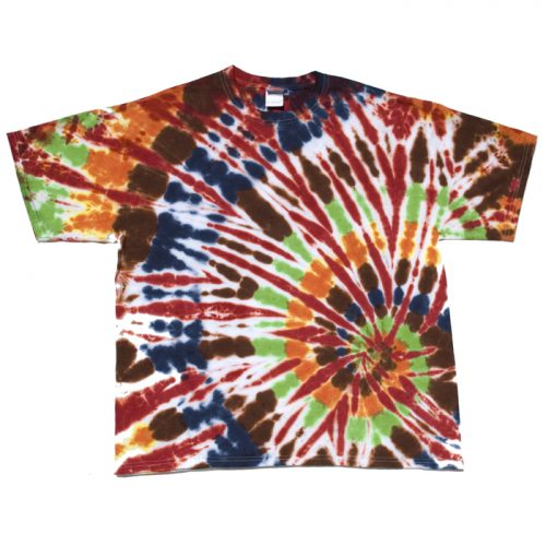Chocolate & Orange Lime Spiral Tie Dye Shirt