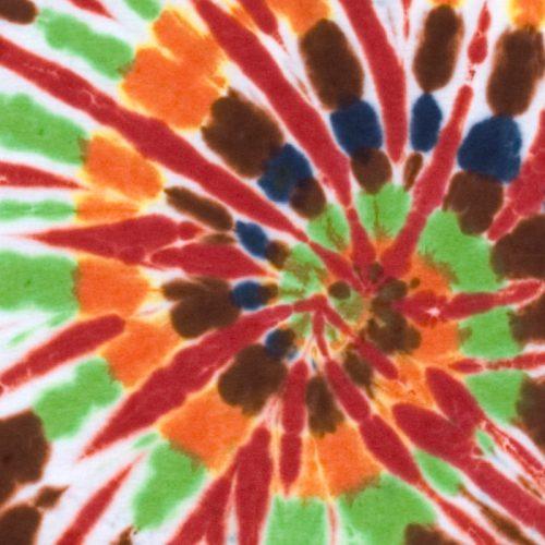 Chocolate & Orange Lime Spiral Tie Dye Shirt
