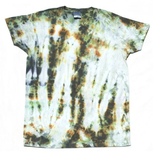 Green Fluorite Crumple Small Women's Tie Dye T-Shirt