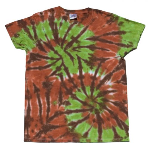 Chocolate & Lime Double Spiral Small Tie Dye T-Shirt