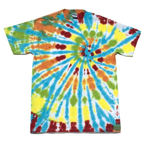 Candy Color Spiral Tie Dye Medium