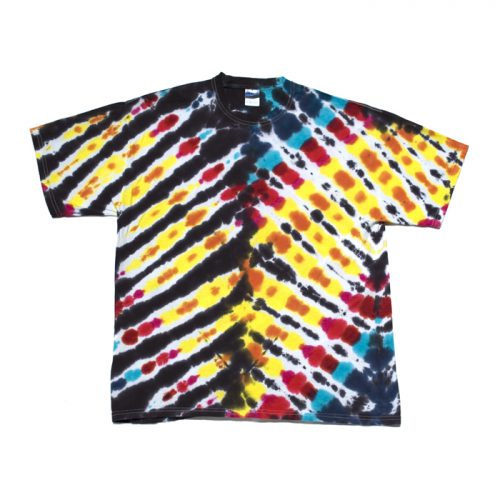 V-Shape Tie Dye Pattern in Light and Dark XL