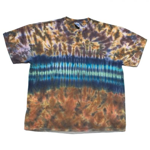 Moody Blue & Purple Stripe Tie Dye Shirt
